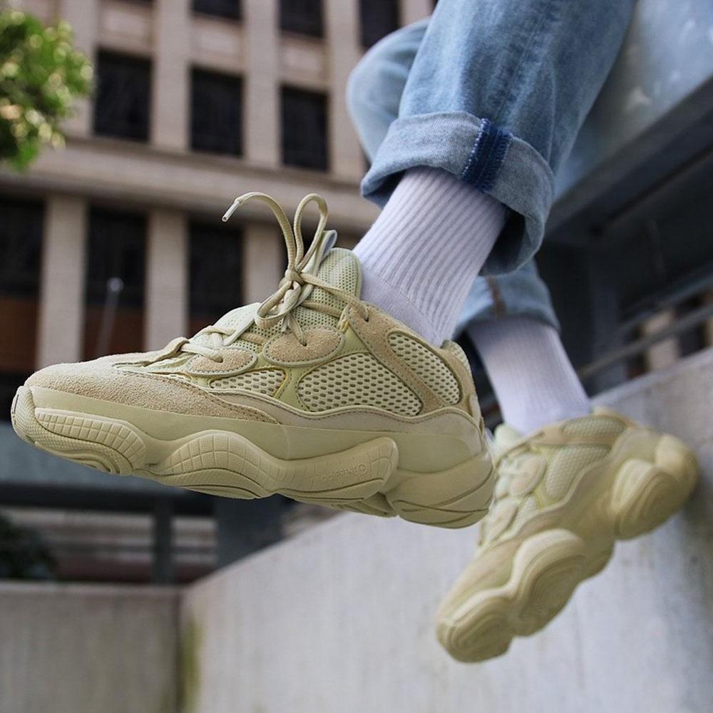 yeezy supermoon on feet