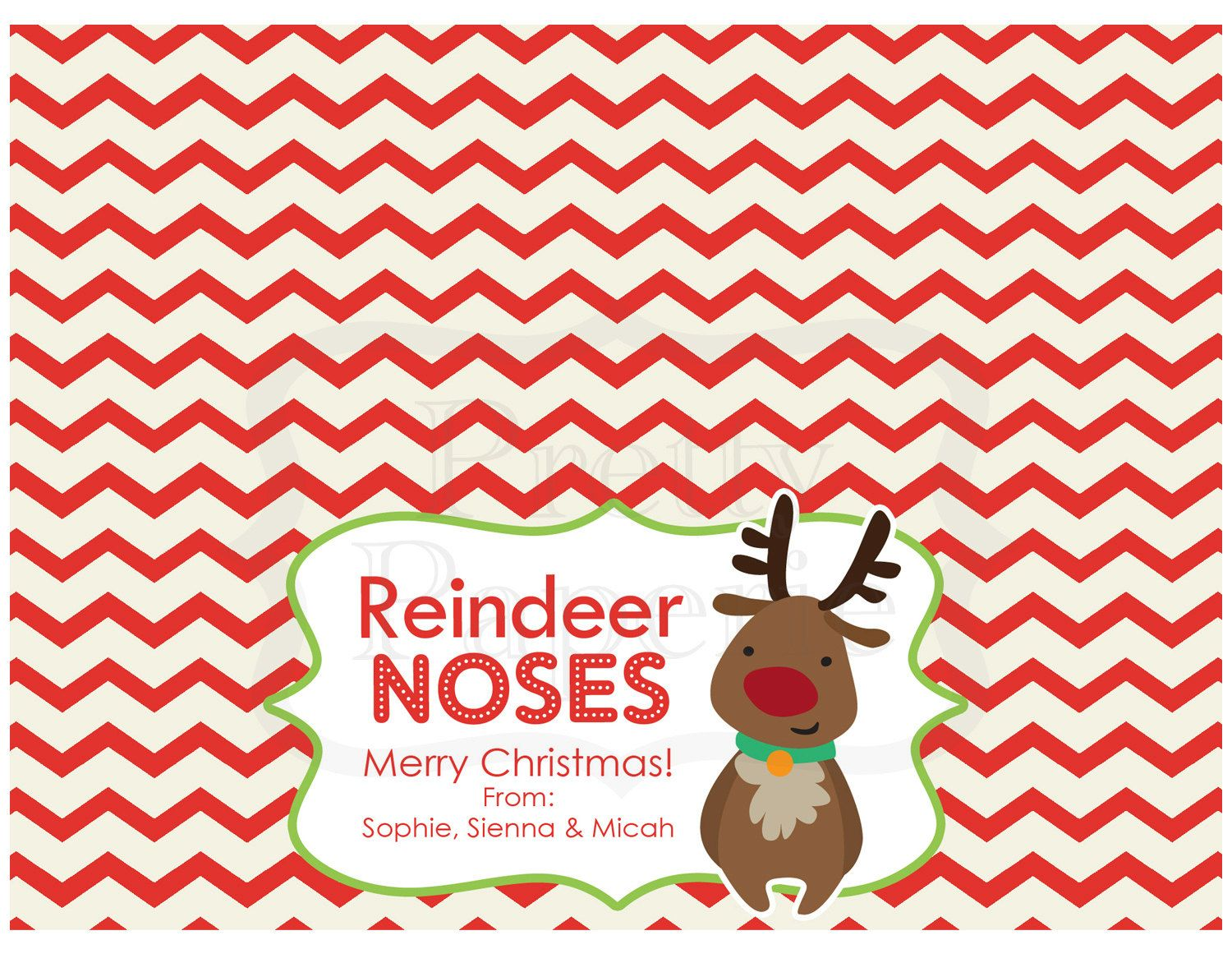 picture about Reindeer Noses Printable titled Xmas Address Bag Tags: Reindeer Noses - Printable PDF