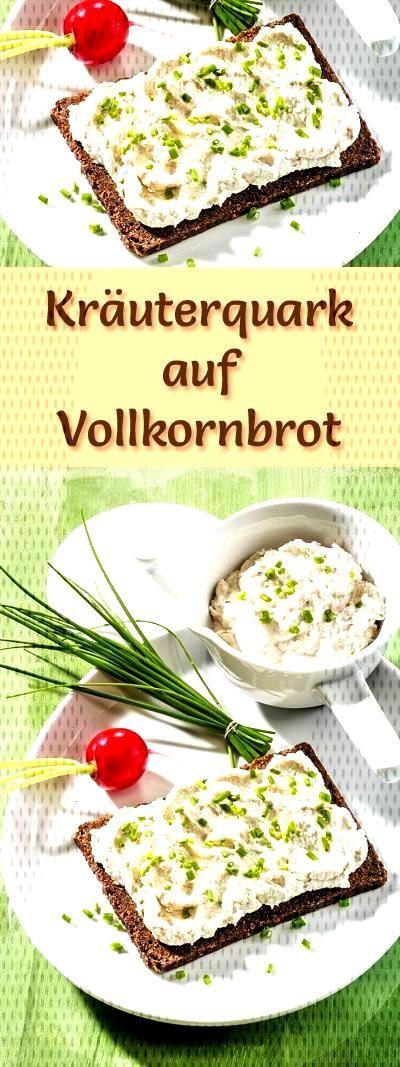 Rezept für Kräuterquark auf Vollkornbrot mit viel Eiweiß - und weitere leckere Magerquark-Rezept