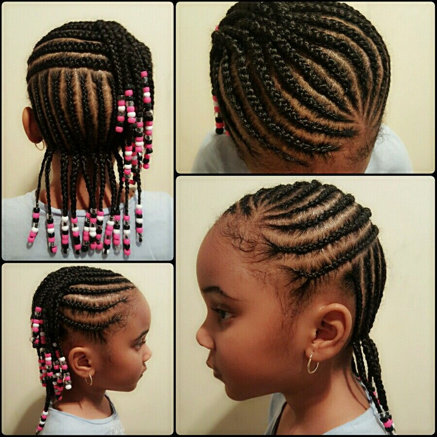Braids Beads Black Kids Hairstyles Hair Styles Little Girl Braids