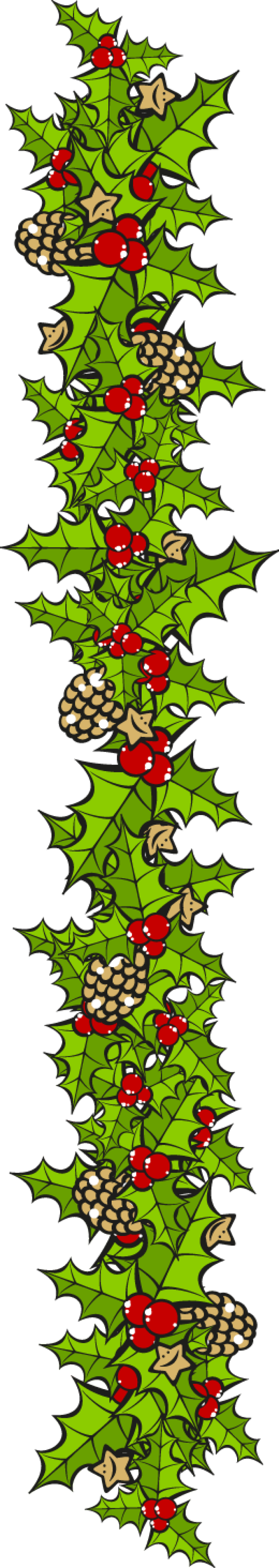 Clip Art For The Christmas Holidays Holly Border Vertical