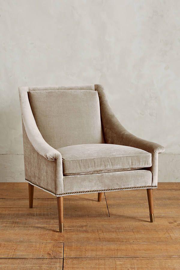 Best Anthropologie Slub Velvet Tillie Armchair Furniture 640 x 480
