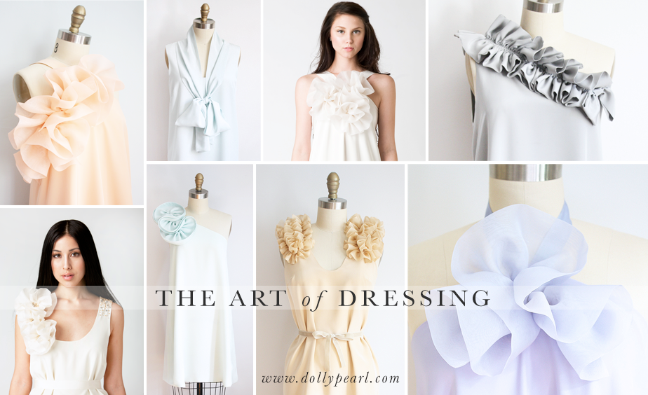 Dolly Pearl Occasional and Bridal Dresses.  Such unique one of a kind dresses and great mix and match colors.