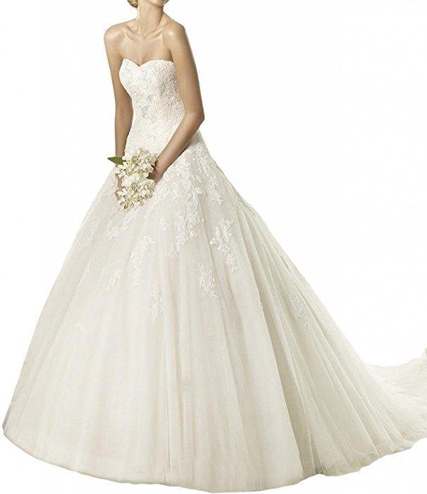 169,69€ Gorgeous Bride Herz Ausschnitt Brautkleider Hochzeitskleider ...