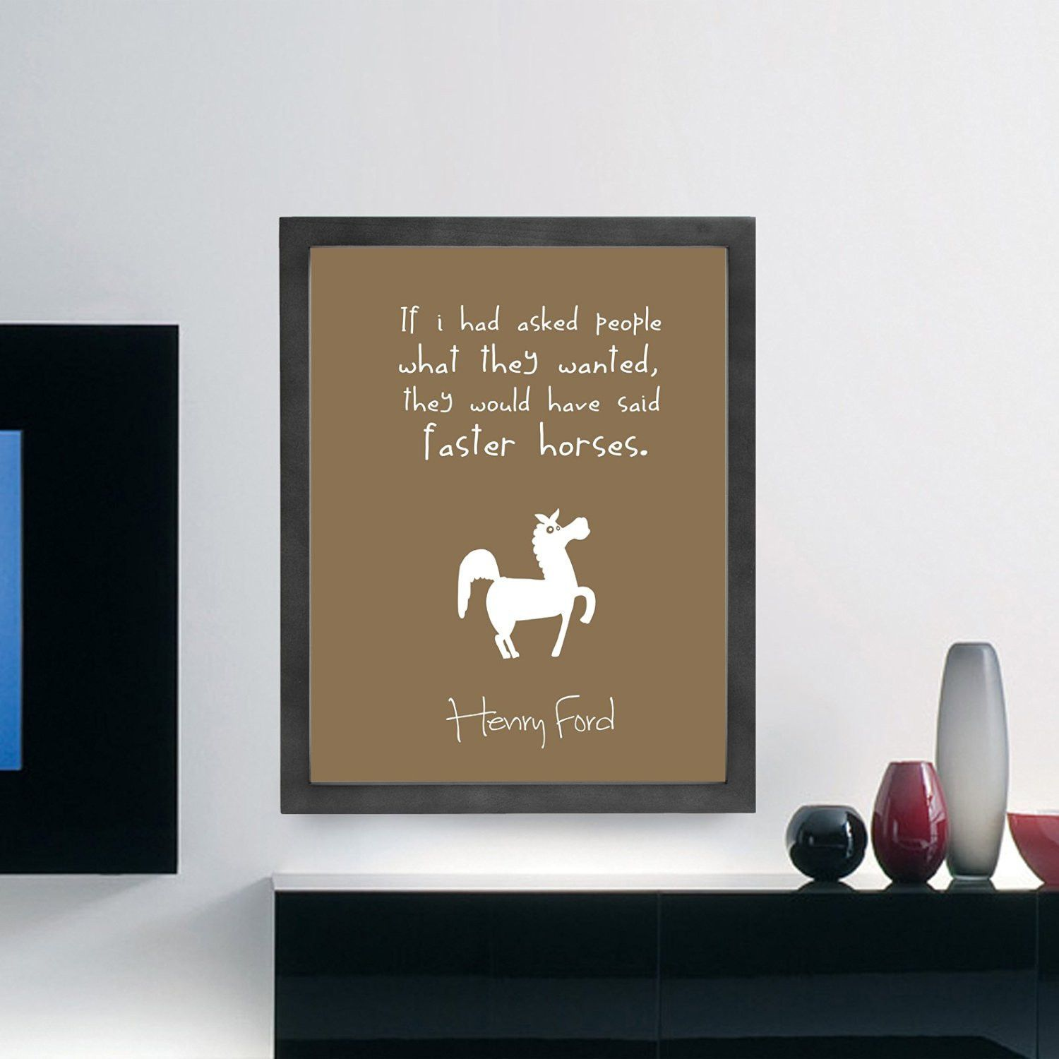 Henry Ford Inspirational Typography Quote Wall Poster