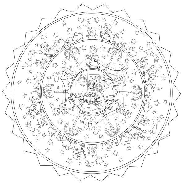 Malvorlage Mandala Krippenszene Heute Gibt Es Eine Malvorlage Mit Einer Krippenszene Ich Vergrossere Solche Vorlag Malvorlagen Mandala Malvorlagen Vorlagen
