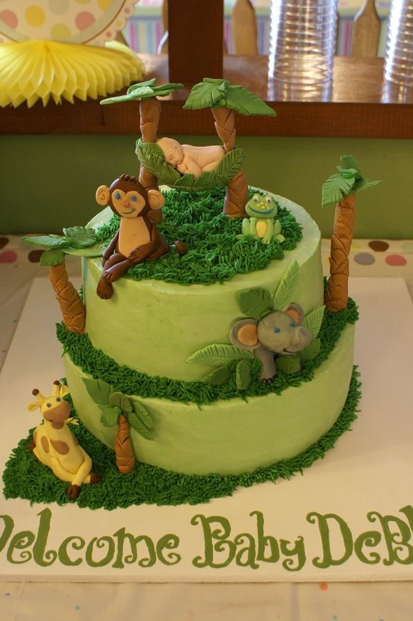 Butter Cream Frosting Baby Shower Giraffe Cakes Images