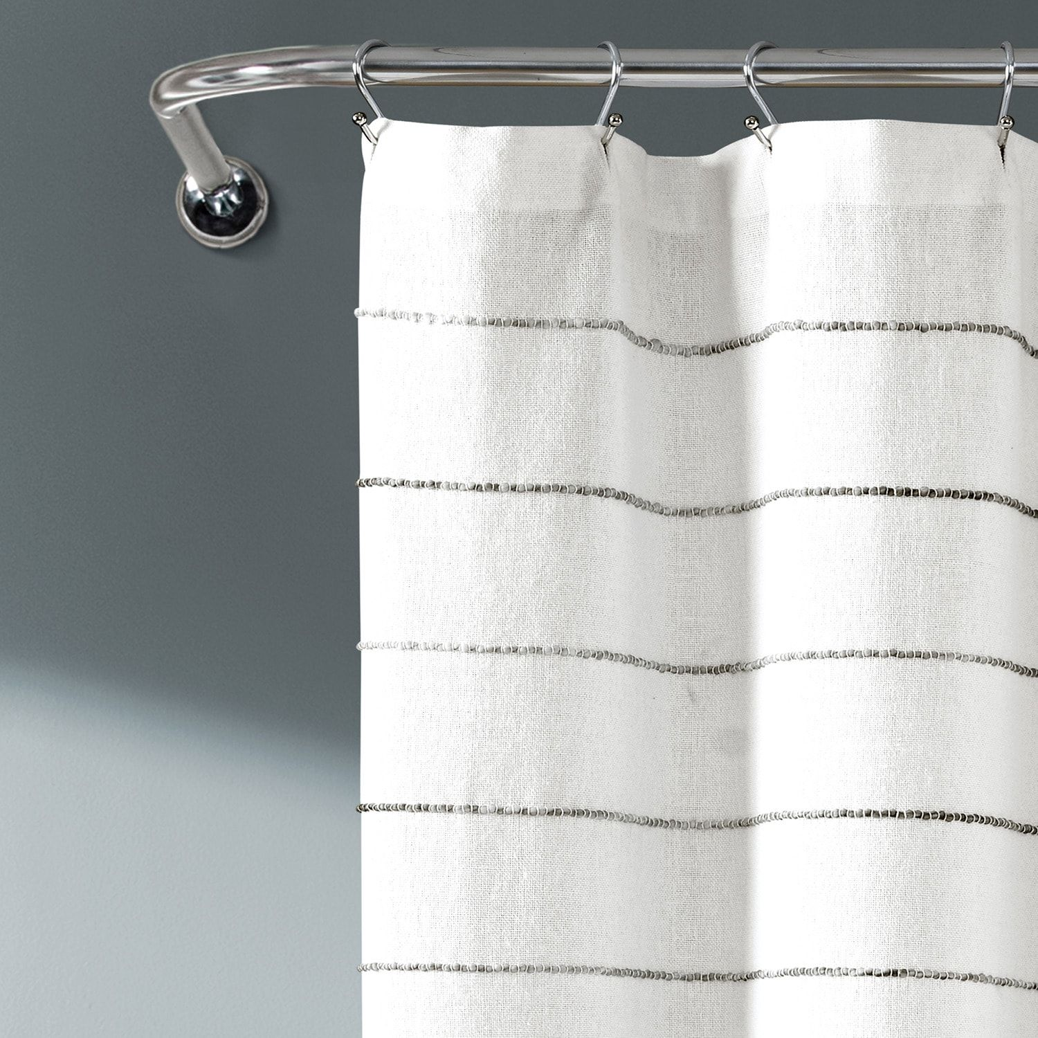 Lush Decor Ombre Stripe Yarn Dyed Cotton Shower Curtain Affiliate