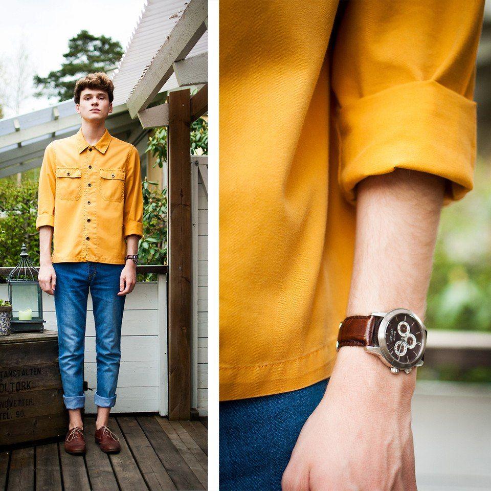 Wedding Entourage Hairstyle: Mustard Shirt, Mens Fashion:__cat__, Yellow T Shirt