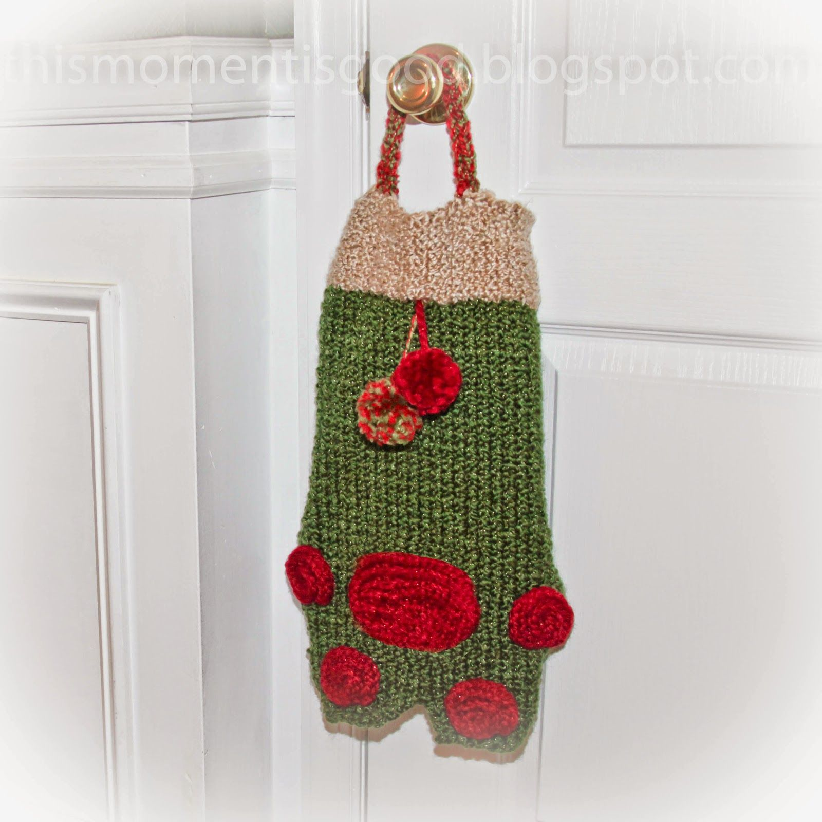 Loom Knit Christmas Ornaments Part - 28: LOOM KNIT PET STOCKING PATTERN... Knit Christmas OrnamentsChristmas ...