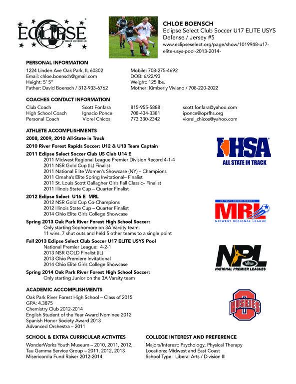 Sample Soccer Player Resume Soccer Players Soccer Resume
