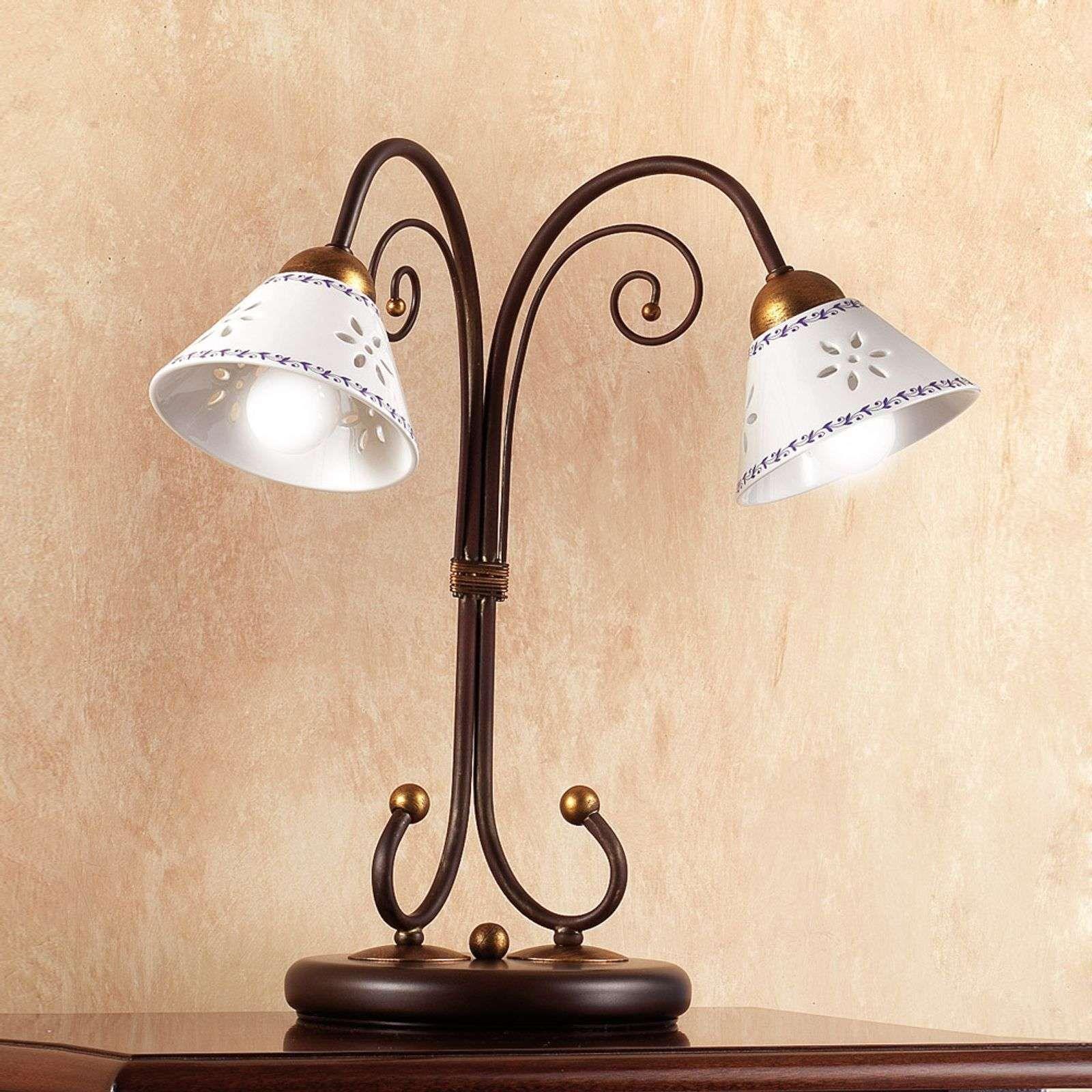 2 Flammige Tischleuchte Liberty Avec Images Lampes De Table Lampe Salon Luminaire