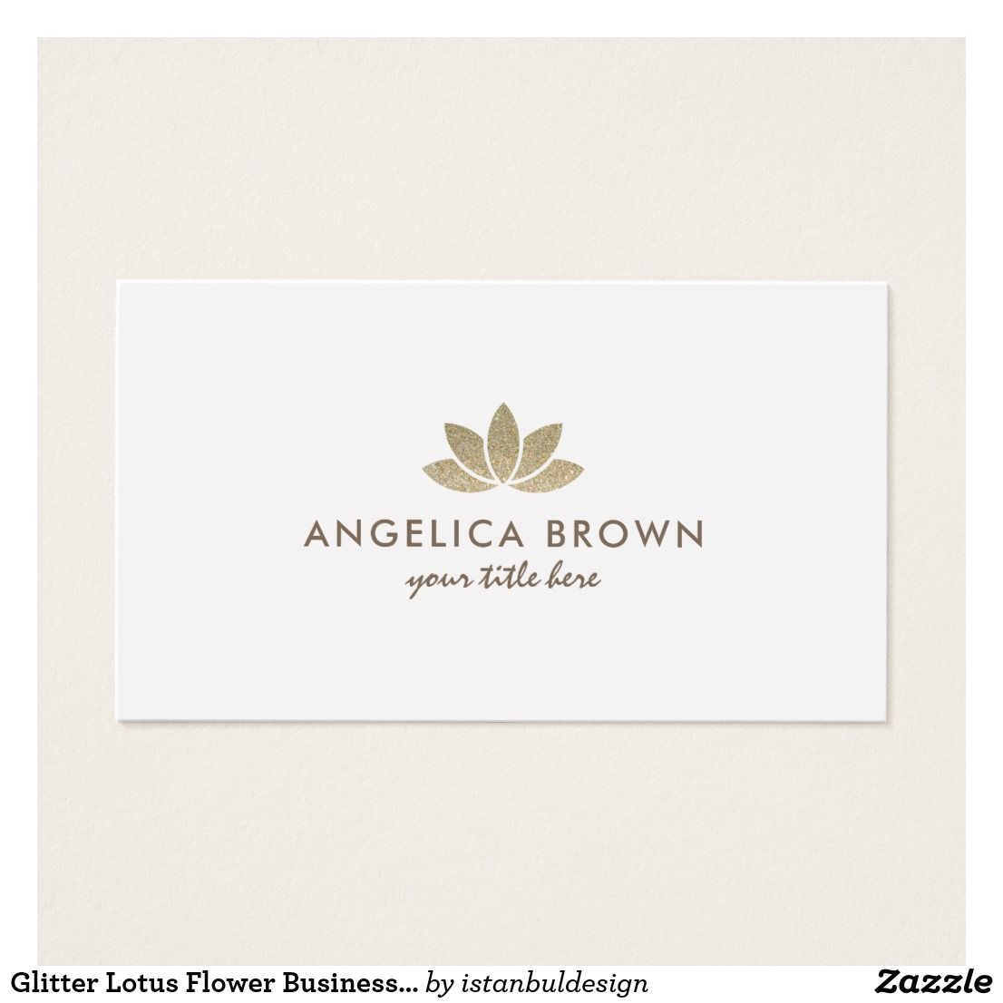 Glitter Lotus Flower Business Card | Business cards and Business