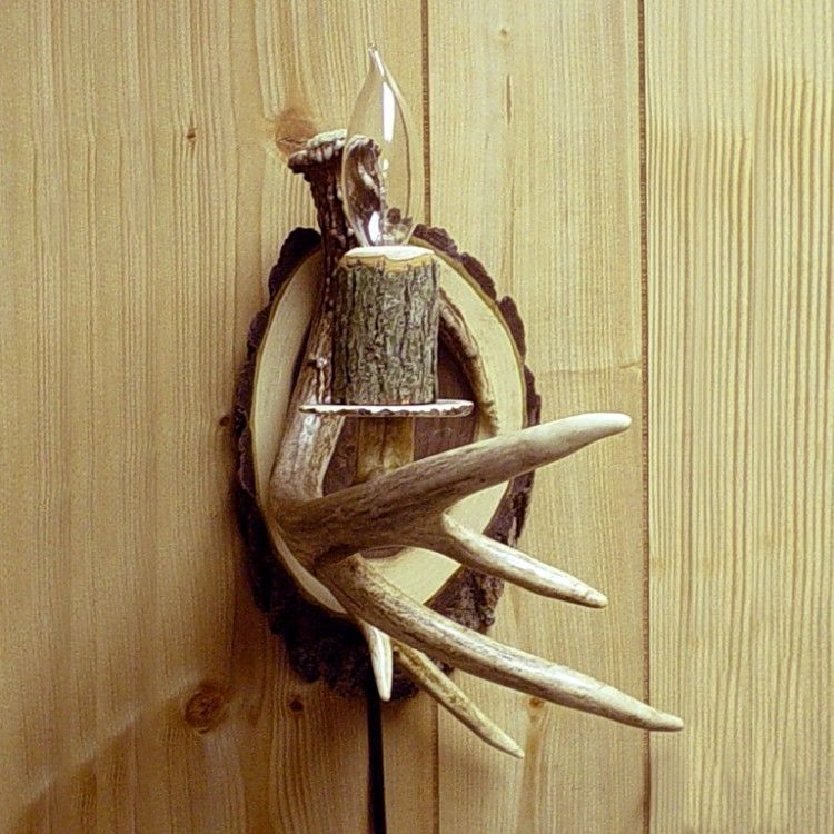 Electric Antler Wall Sconce | Antlers, Wall sconces and Walls
