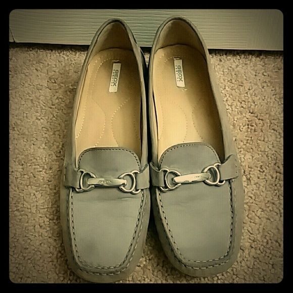 Respira Geox shoes Nice Respira Geox shoes color gray. Very comfortable worn a few times. Size 38 Euro. I am a size 8 US and they fit me perfectly. Make an offer! Geox  Shoes Flats & Loafers