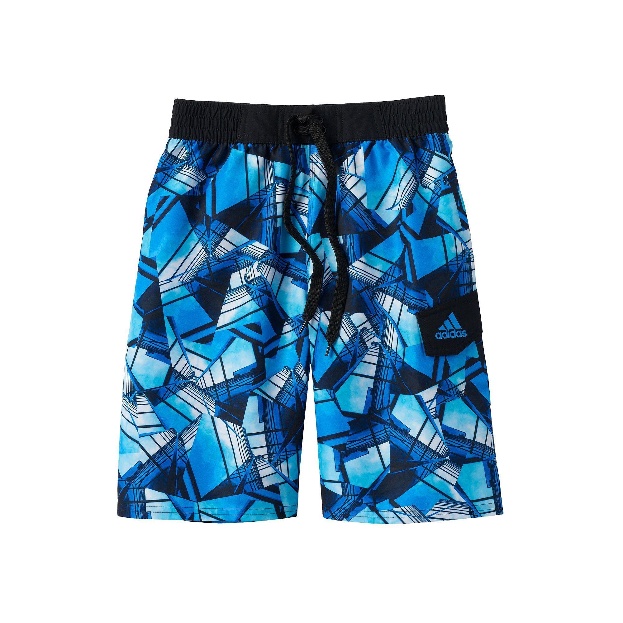a7ce4333af Boys 8-20 Adidas Geo City Board Shorts, Boy's, Size: Xl(18/20), Blue (Navy)
