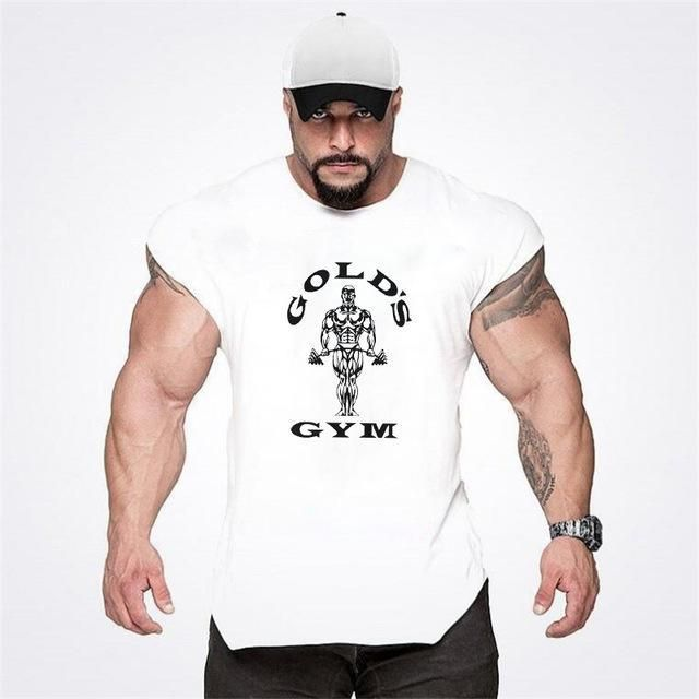 c6a9a4072f6db Brand Body Building Clothing Mens Casual Loose Fitness Tank Tops Male  Summereavengifts