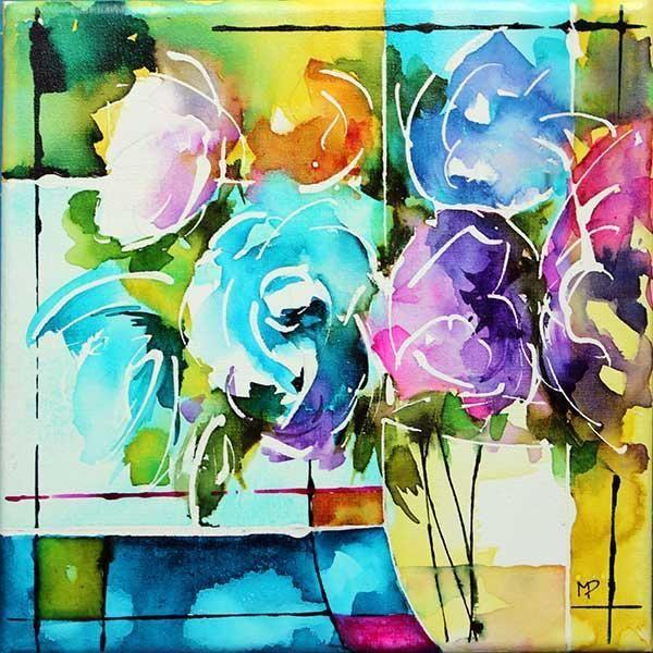 Petit Format 08 Painting 20x20 Cm By Veronique Piaser Moyen