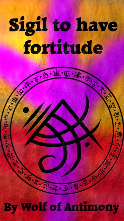 Sigil to have fortitude | Wolf Of Antimony's Sigils | Sigil