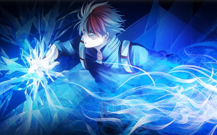 Download Wallpapers 4k Shouto Todoroki Neon Manga My Hero Academia Boku No Hero Academia Besthqwallpapers Com Anime My Hero Academia My Hero