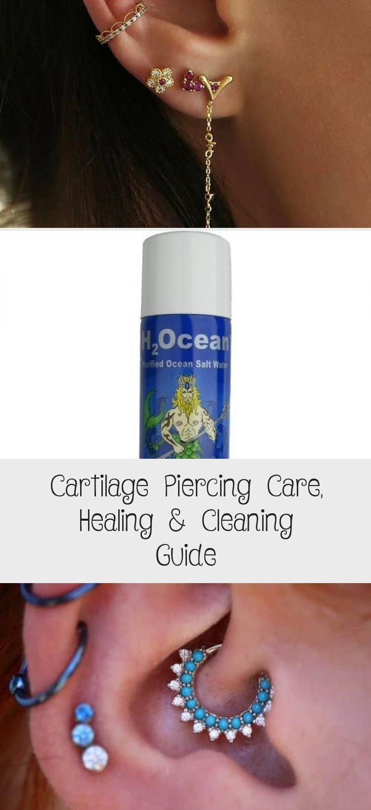 Cartilage piercing care healing cleaning guide