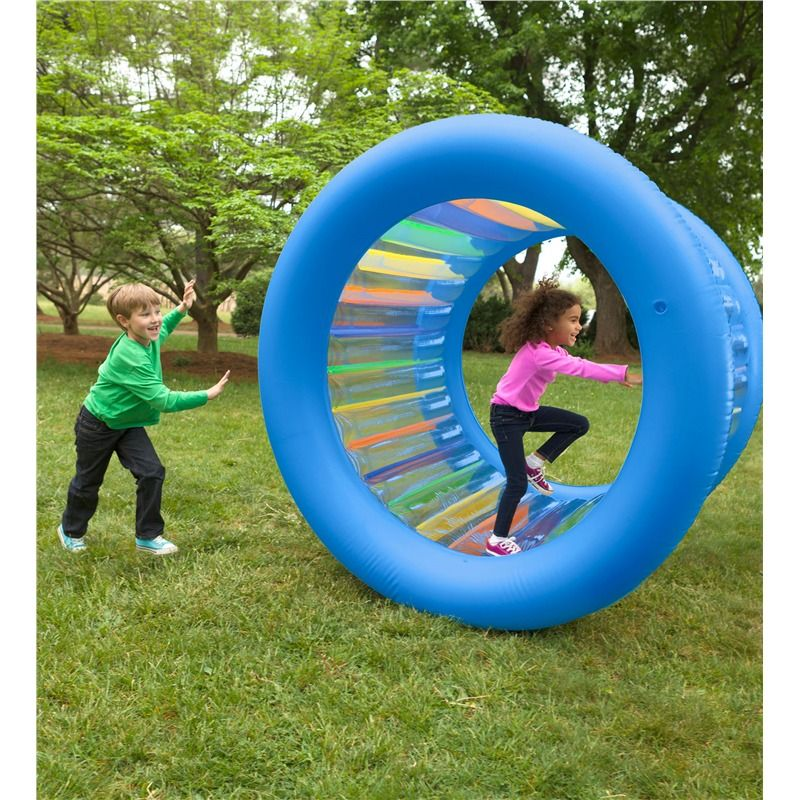 Outdoor Boy Toys Age 9 : Roll with it ™ giant inflatable colorful wheel