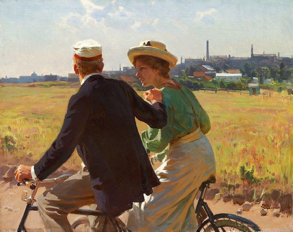 Erik Henningsen Utrennyaya Poezdka 1907 G Kopengagen Daniya