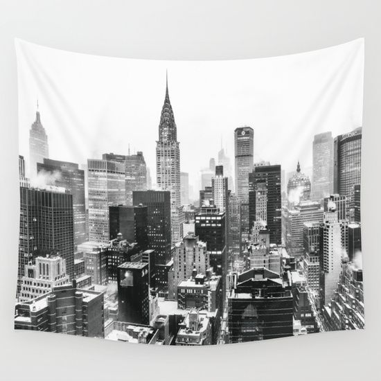 New York City Wall Tapestry By Vivienne Gucwa 39 00 Nyc Rooms City Bedroom Wall Tapestry