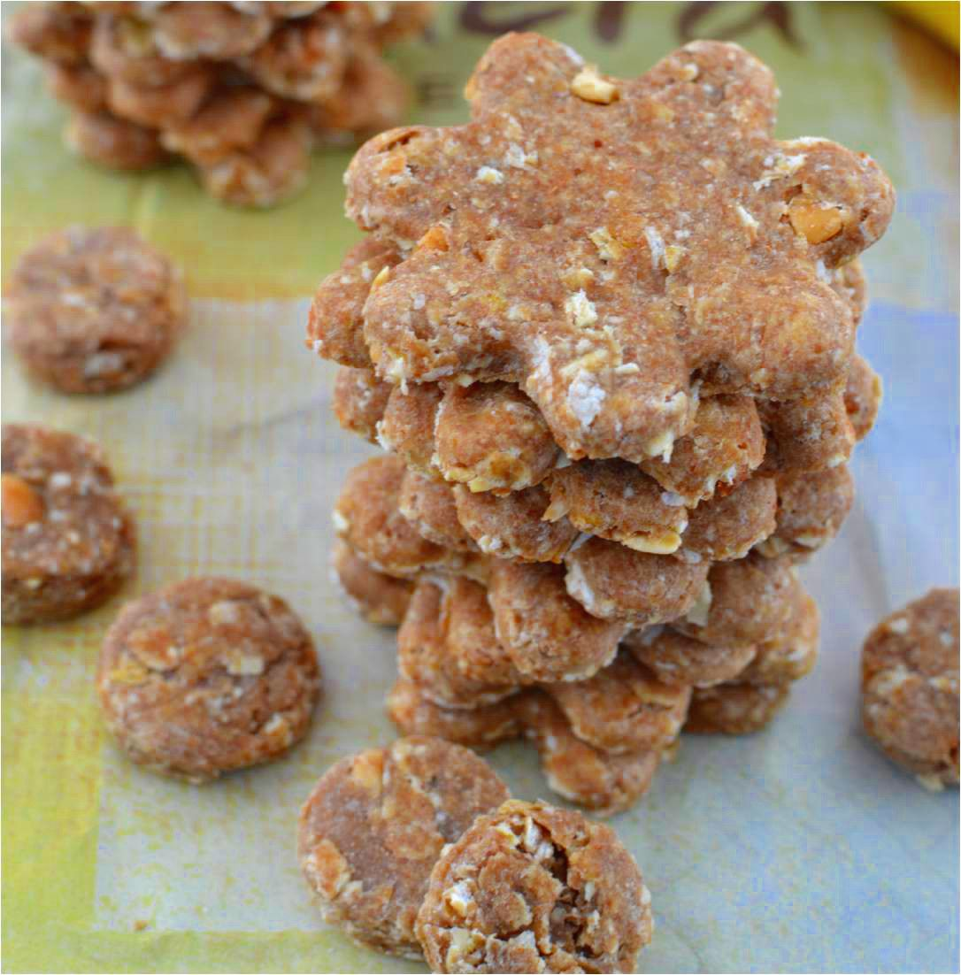 Peanut Butter Oatmeal Banana Dog Treats Recipe Dog Biscuit