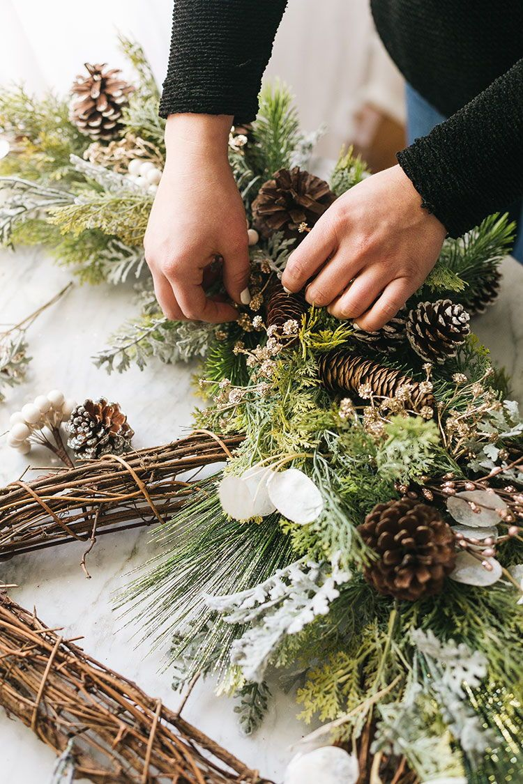 Make a Statement This Holiday Season with a Giant Peace Sign Wreath Peace Sign Wreath with Faux Foliage DIY. Put a modern twist on a classic grapevine wreath with faux flowers. It's the perfect large wreath to hang outdoors all winter long.
