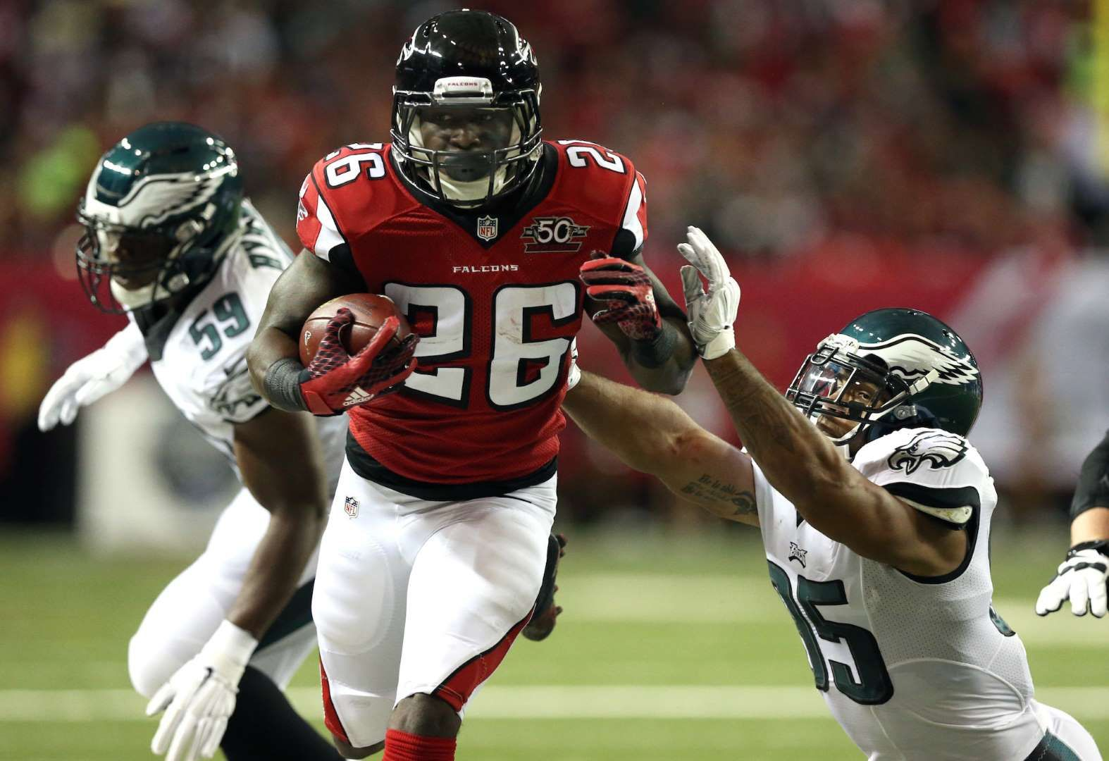 Atlanta Falcons Tevin Coleman Although Devonta Freeman is