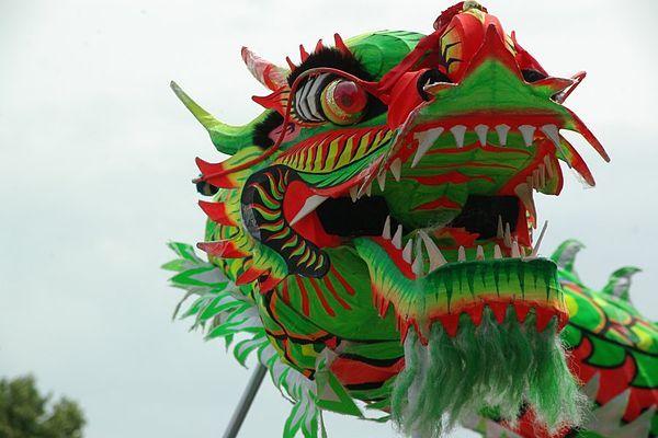 Dragon Dance Wikipedia The Free Encyclopedia Chinese Dragon Chinese New Year Dragon Dragon Dance
