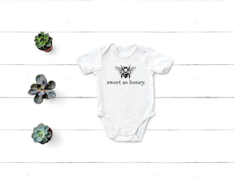 050156cf6 Sweet As Honey Onesie, Baby Girl Clothing, New Baby Gift, Bee Baby Onesie