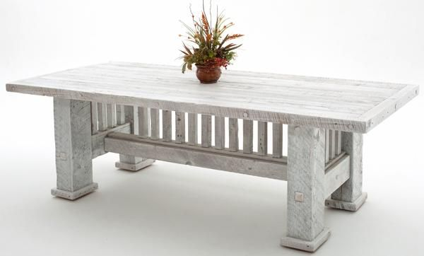 Barnwood Dining Table Mission Style Base Shown Painted In