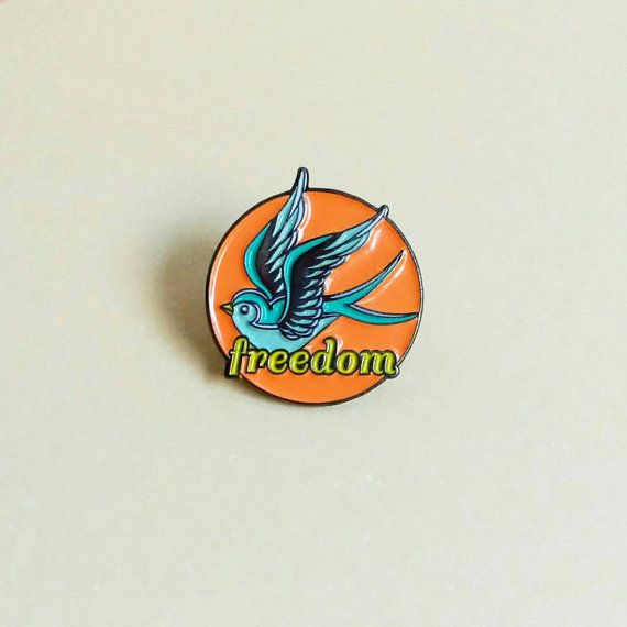 Freedom Swallow Enamel Pin / Soft Enamel Pin / Lapel Pin