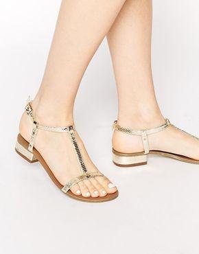Carvela Bounty T Bar Flat Sandals