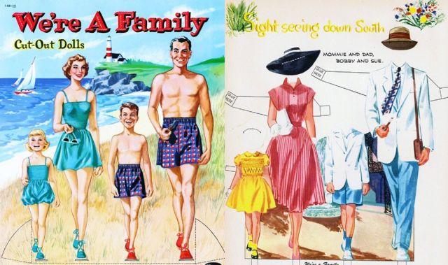 Mariages Rétro: Ressources à télécharger : les poupées de papier vintage