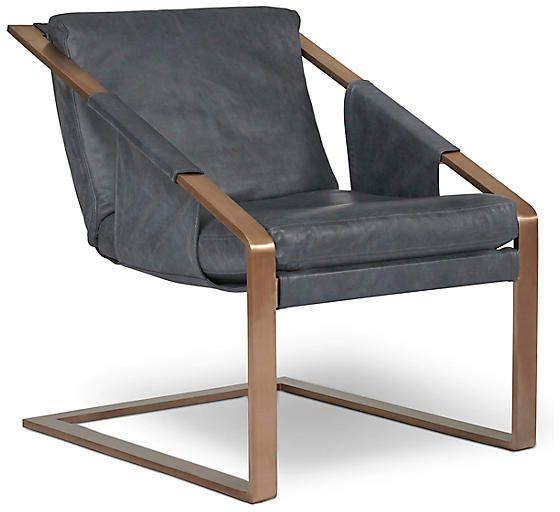 Best Eiffel Accent Chair Denim Leather Frame Rose Gold 400 x 300