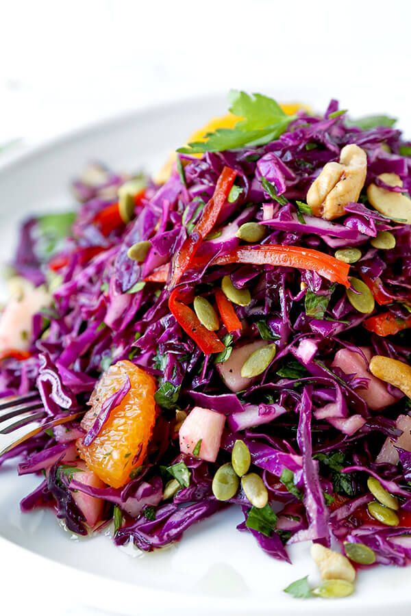 Detox Red Cabbage Slaw Recipe Red Cabbage Recipes Red Cabbage Salad Cabbage Recipes