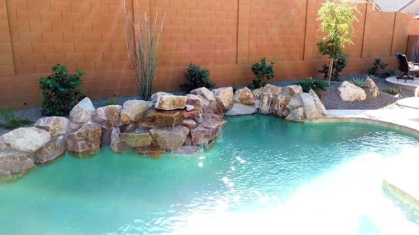 Swimming Pool Waterfalls (Design Ideas) Pool Ideals Pinterest