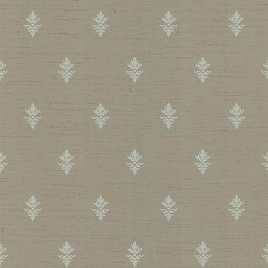 Belmont Fleurette Fleur De Lis Taupe Wallpaper 286-55609