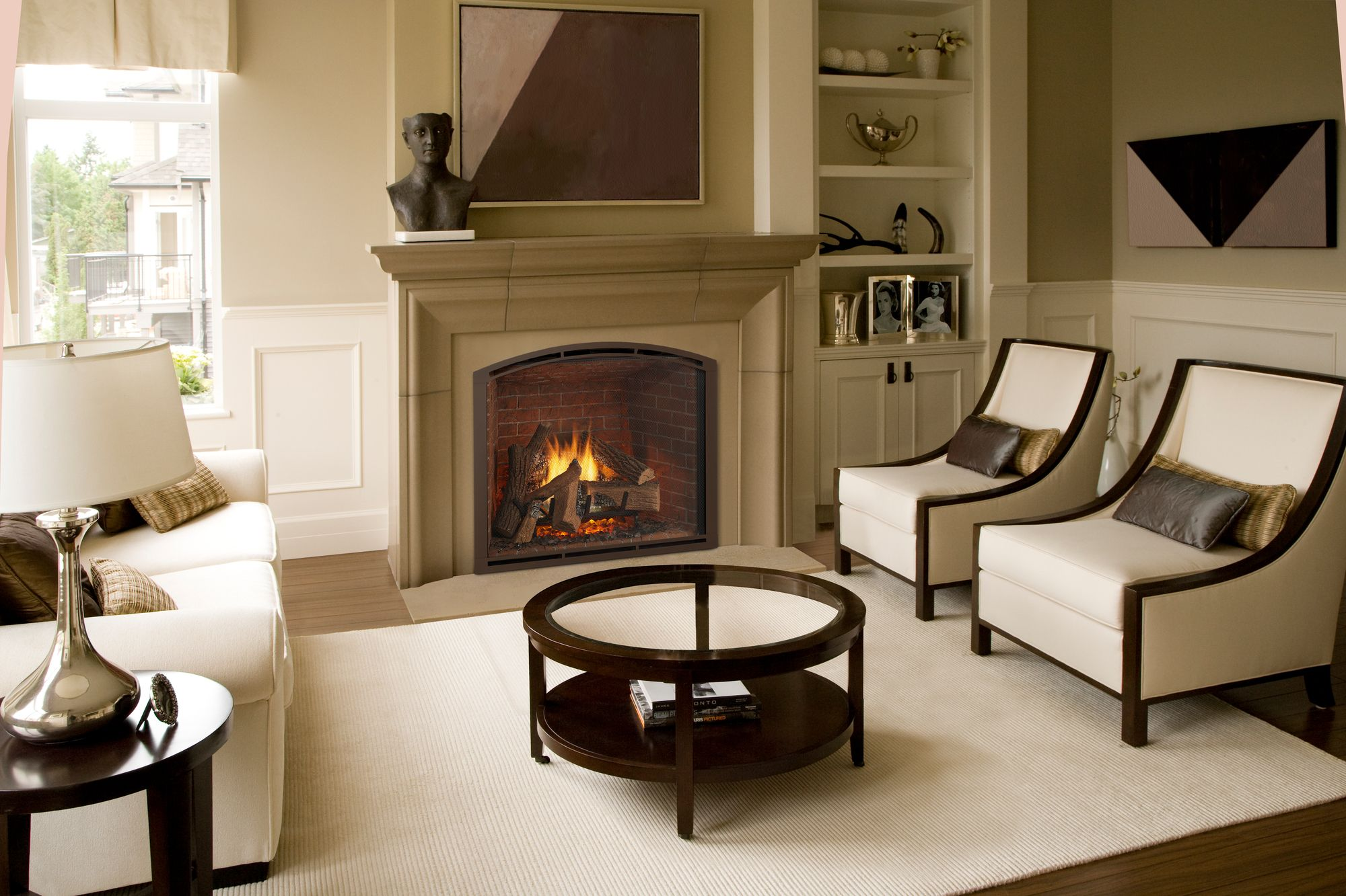 Trend Watch: Soft Lines | Gas fireplace, Vented gas ...