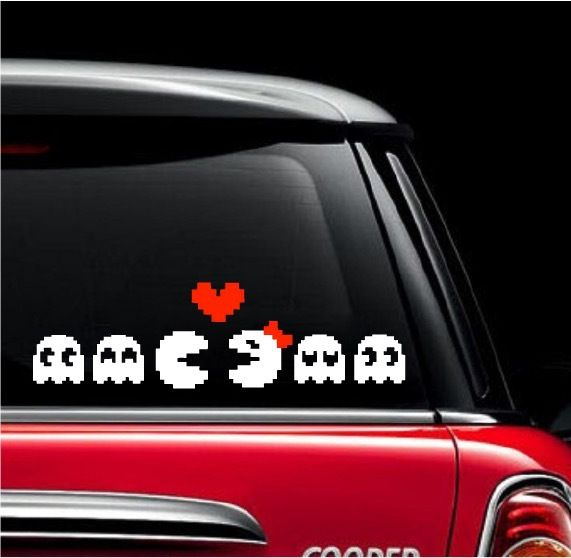 Pacman family car decal the decal guru