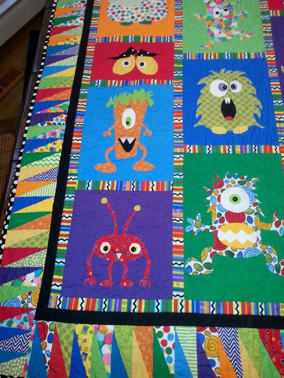 Mini Monster Quilt Pattern By Mizpats On Etsy Sewing Pinterest