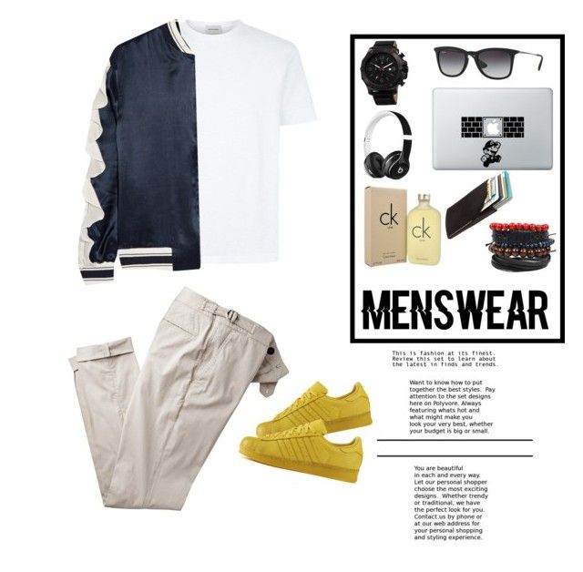 """Men Swear!"" by knockstyles ❤ liked on Polyvore featuring Goen.J, adidas, Joshua & Sons, Ray-Ban, Beats by Dr. Dre, Calvin Klein, Bison, men's fashion and menswear"