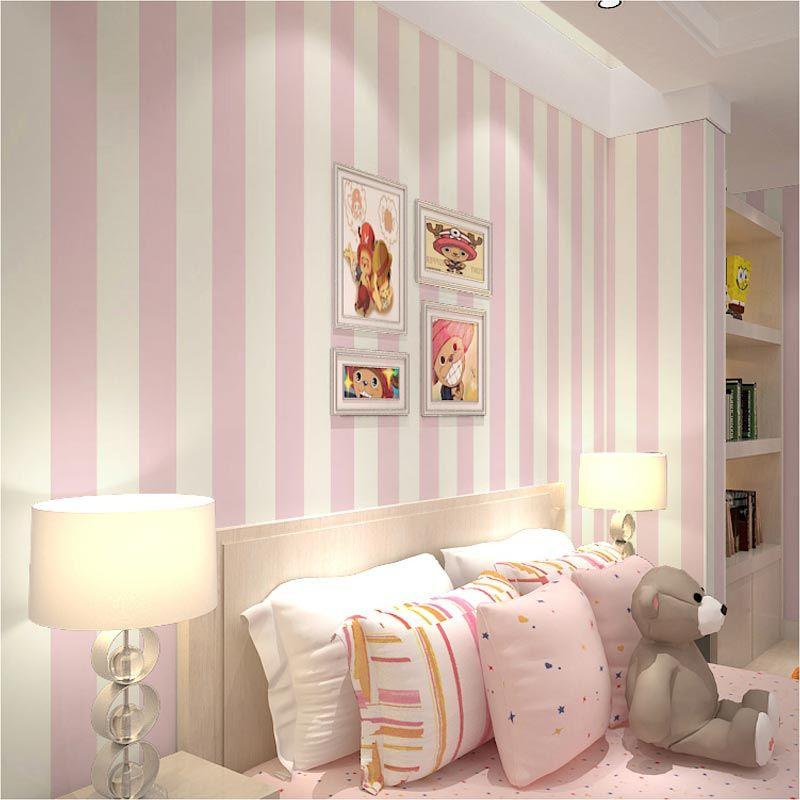 Blue And White Striped Wallpaper Home 2020 ベッドルーム インテリア 赤い部屋 部屋のデコレーション