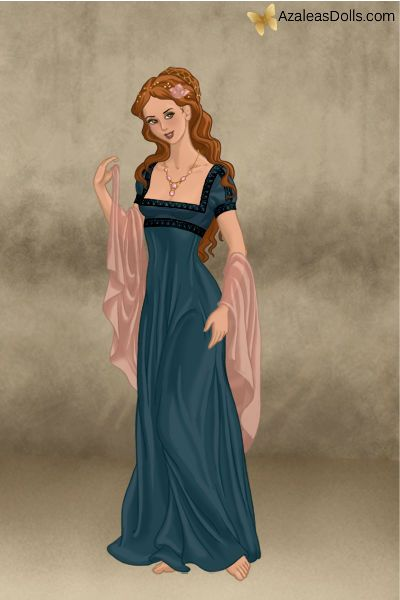 Roman Lady Style Dress Illustration Doll Divine Roman Dress