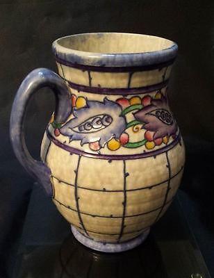 Art Deco Crown Ducal Charlotte Rhead Aztec Leaves Vase Pinterest