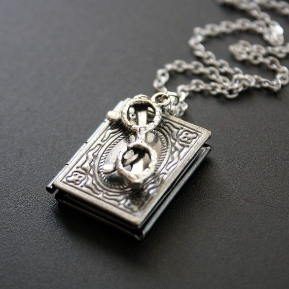Book locket necklace antique silver book worm by jewelrydeli book locket necklace antique silver book worm by jewelrydeli 2500 perfect necklace for a librarian aloadofball Gallery