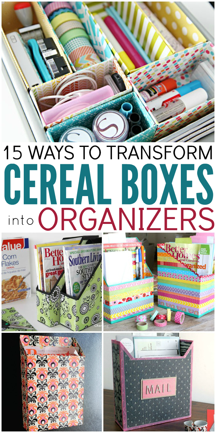 Kitchen Diorama Made Of Cereal Box: 15 Ways To Make Cereal Box Organizers